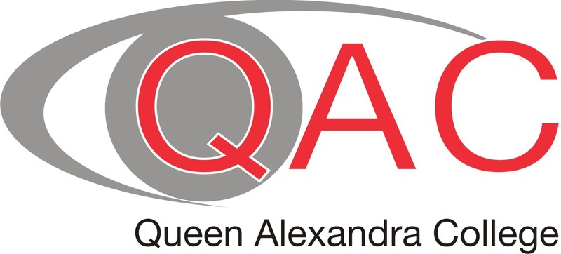 The logo of Queen Alexandra College