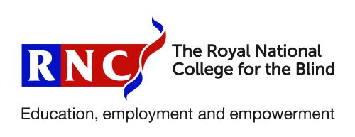 The logo of Royal National College for the Blind