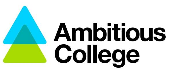 The logo of Ambitious College