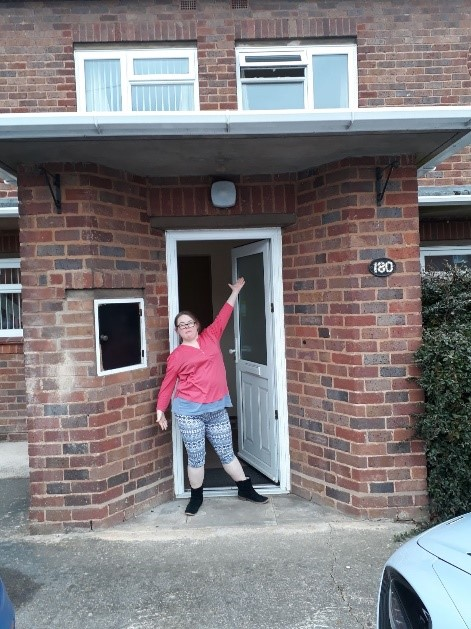 student in a supported living accomodation
