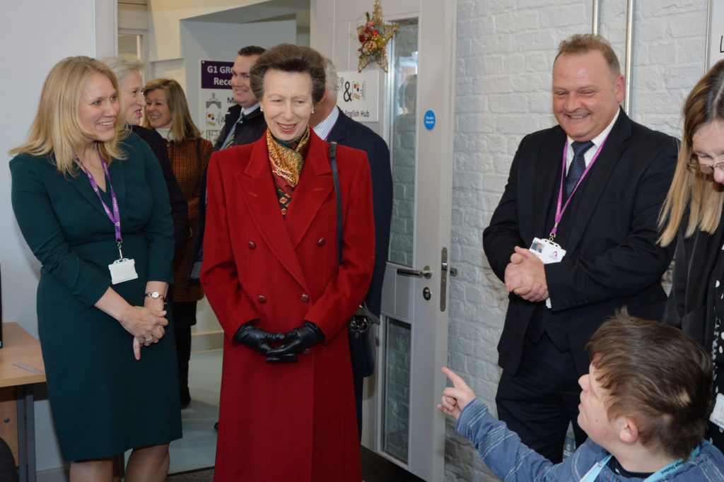HRH the royal princess visiting Linkage college