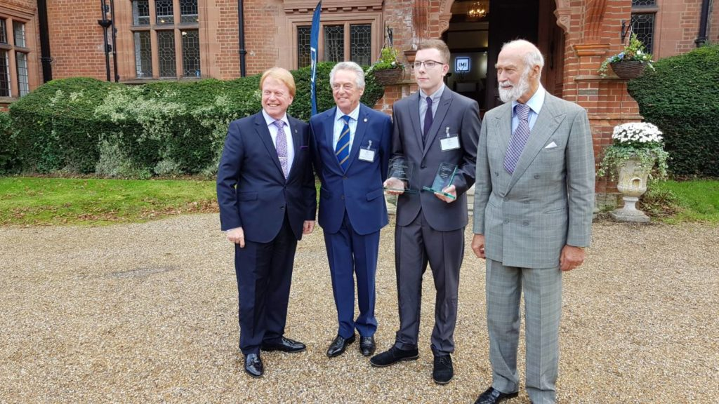 Joseph Brown, student at Borough bridge awarded industry award at prestigious event