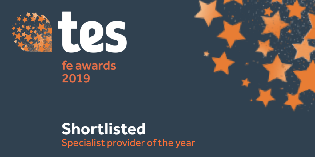 TES FE awards specialist provider of the year category shortlist stamp