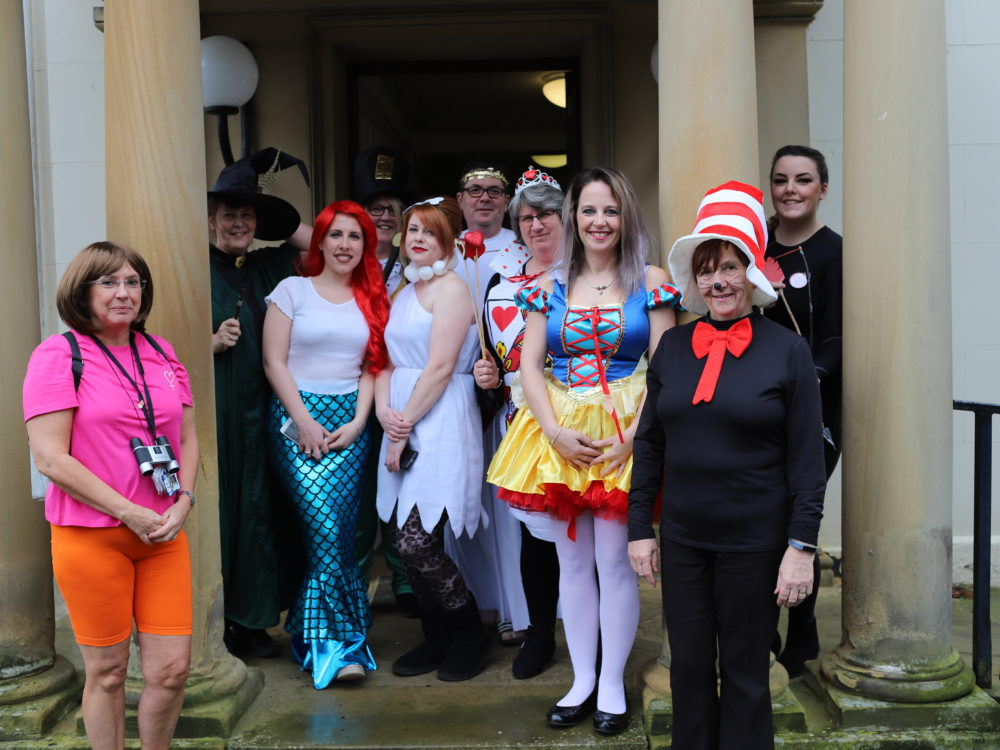 Staff and students dress up for World Book Day at Derwen