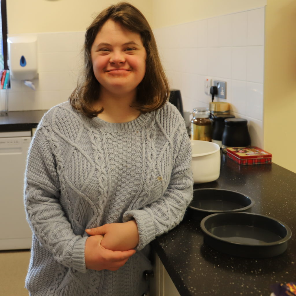 Amy enjoys learning independence skills in the Short Breaks kitchen
