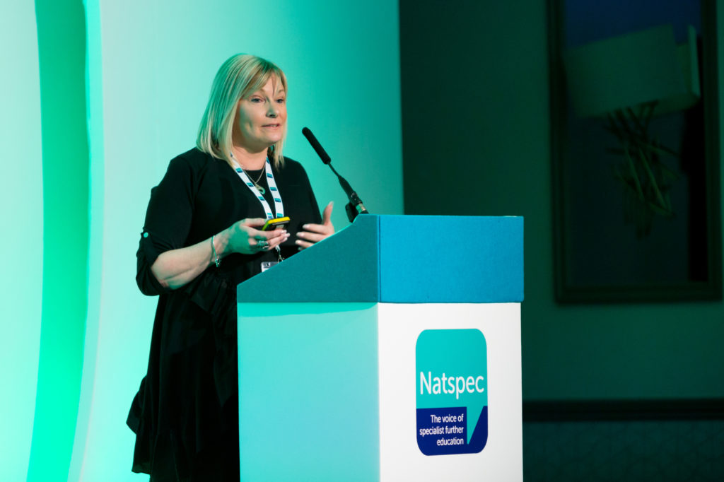 Sherann Hillman speaks at Natspec's National Conference 2019