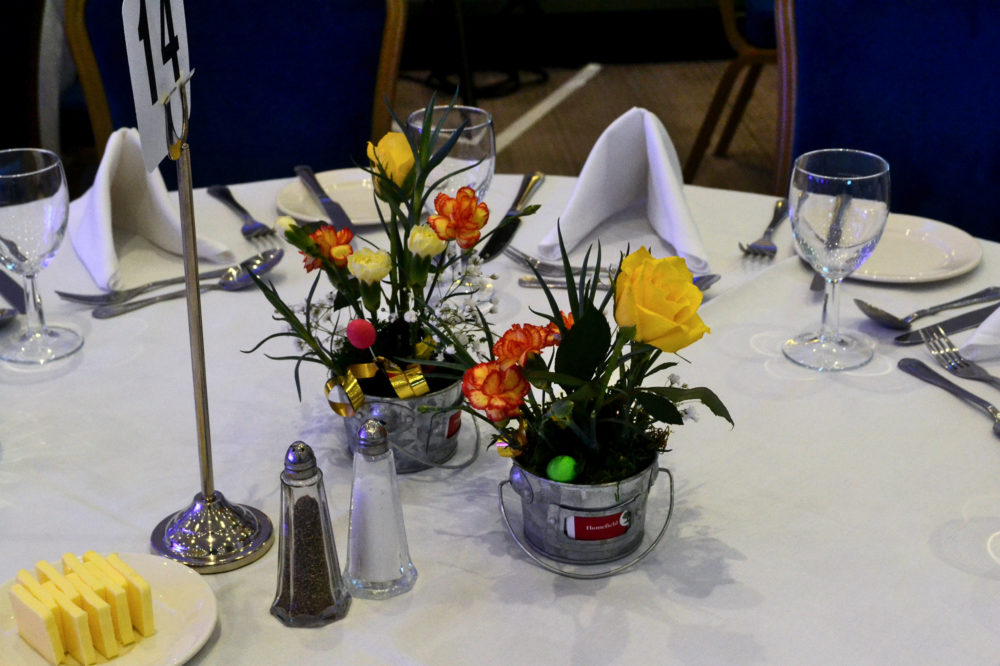 Decorative flowers on table
