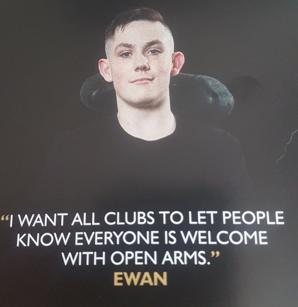 """I want all clubs to let people know everyone is welcome with open arms"" - Ewan"