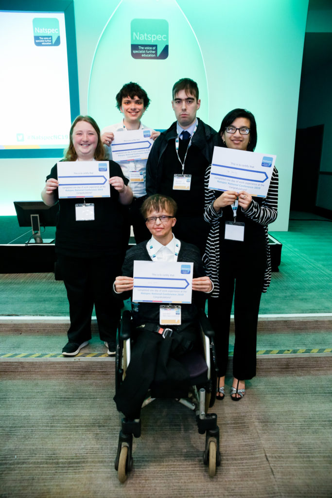 Work experience students receive their certificates