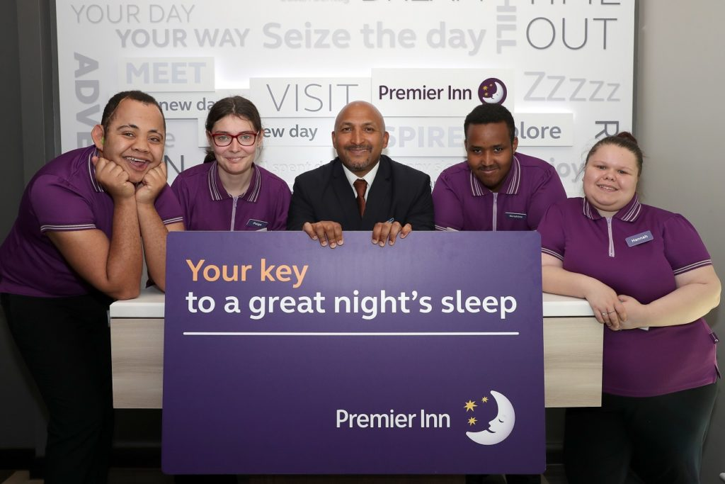 Hereward College Principal opens the Premier Inn training centre