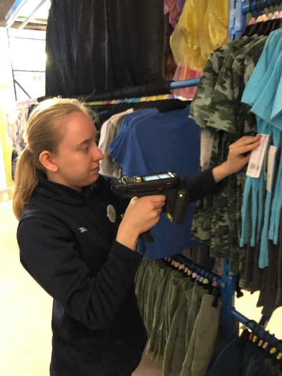 Tay scanning clothing