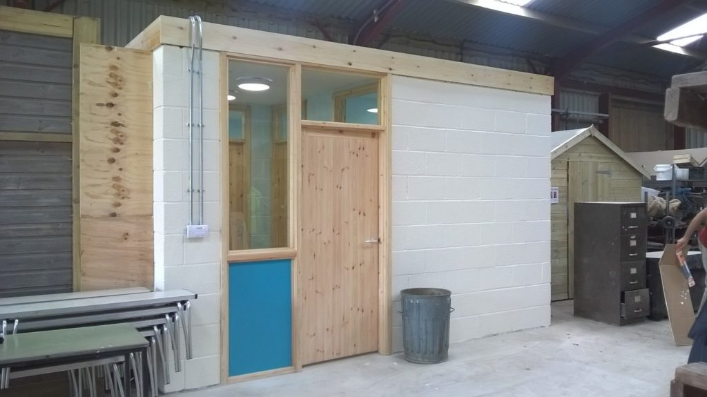 The new accessible toilet at High Riggs Farm