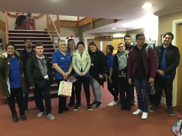 HBVC learners with staff at the Care Home