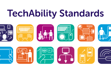 TechAbility Standards, showing the 10 icons that represent the 10 standards