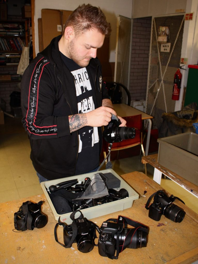 Marshall assembling camera equipment