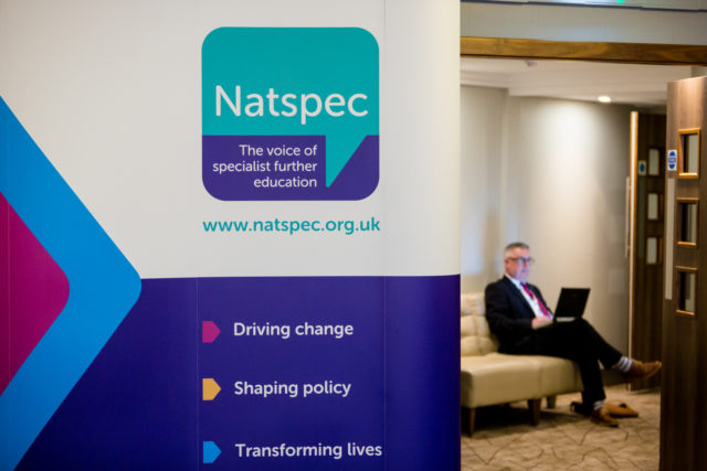 A banner featuring the Natspec Logo and three slogans: Driving change, shaping policy, transforming lives