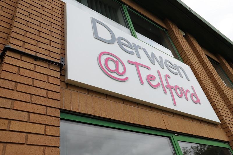 Derwen @ Telford sign